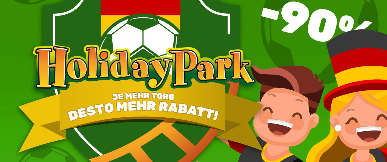 Holiday Park belohnt für jedes Tor der Nationalmannschaft. Mehr Tore = mehr Rabatt!