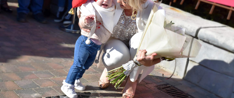 Lindsay onthult eigen ster op Walk of Fame in Plopsaland De Panne